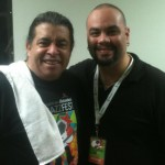 Javier with Giovanni Hidalgo at the Heineken Jazz Fest 2012