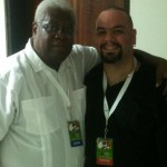 With Abe Laboriel Sr